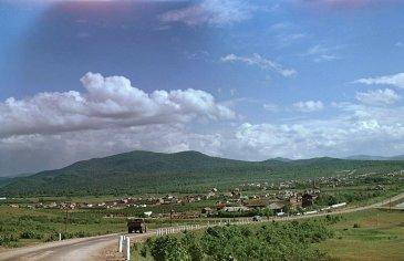 Въезд в город Арсеньев. 1954 год