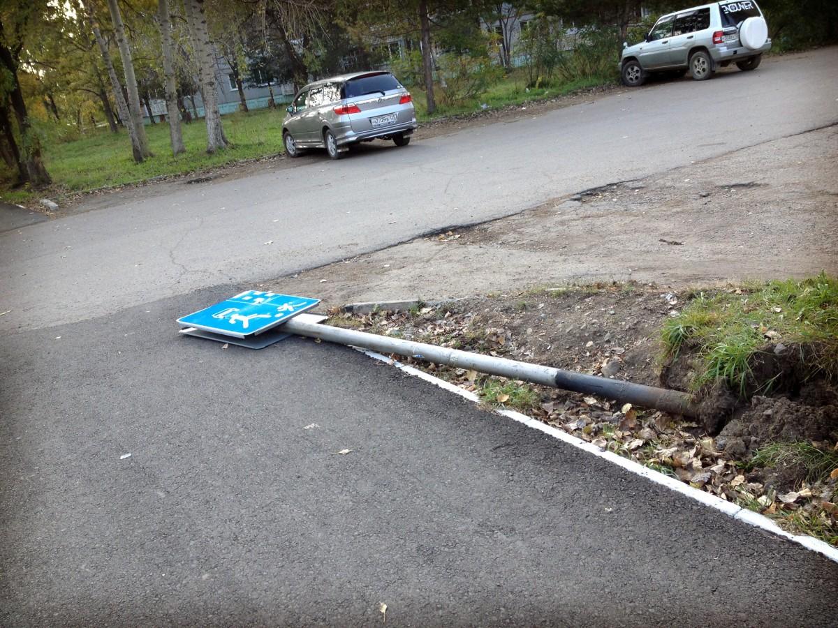 Явный намек пешеходам. Арсеньев, ул. Октябрьская