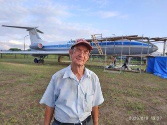 Авиамузей в городе Арсеньев. Покраска Ту-134