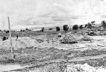Арсеньев 1954 год. Строительство бассейна