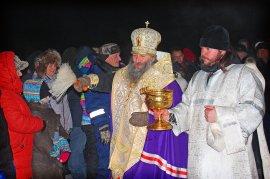 Купание на крещение 2018 (Арсеньев - Корниловский мост, река Арсеньевка)