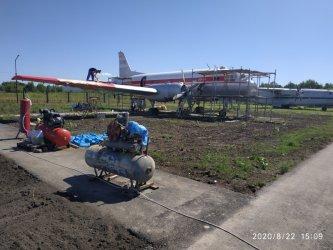 Авиамузей в городе Арсеньев. Август 2020